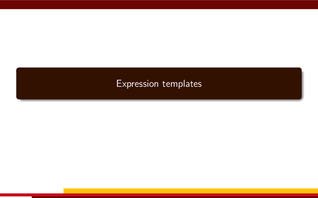Expression templates
