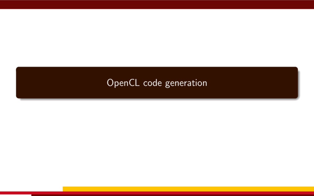 OpenCL code generation