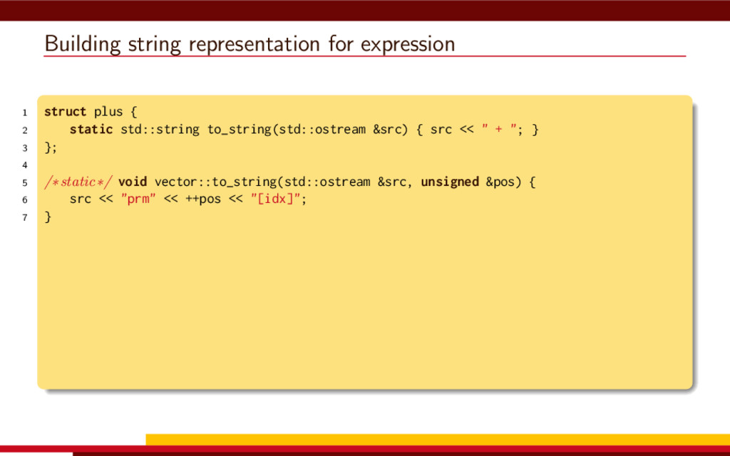 Building string representation for expression 1...