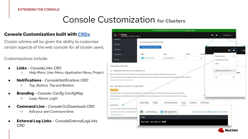 Console Customization for Clusters Console Cust...