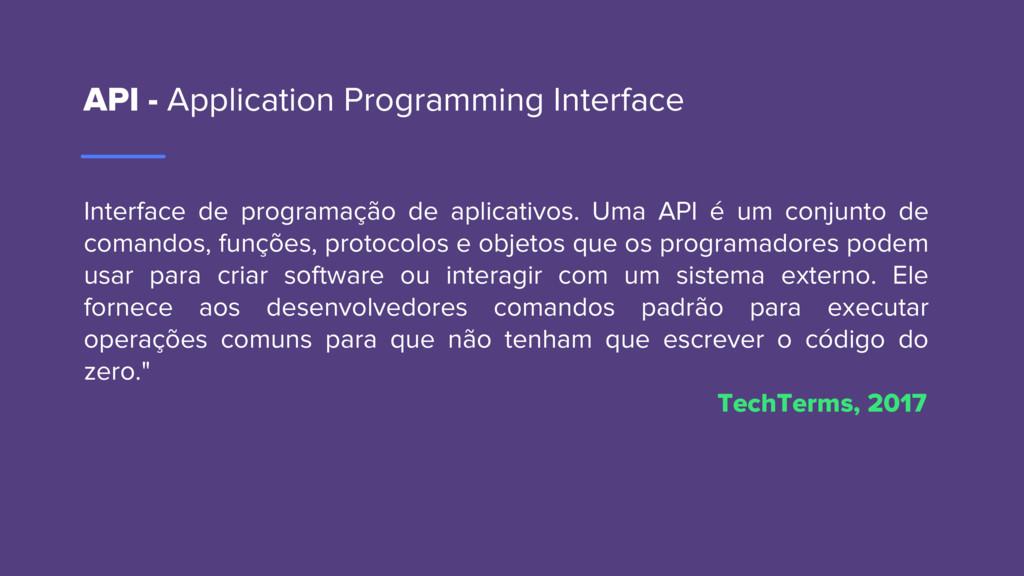 API - Application Programming Interface Interfa...