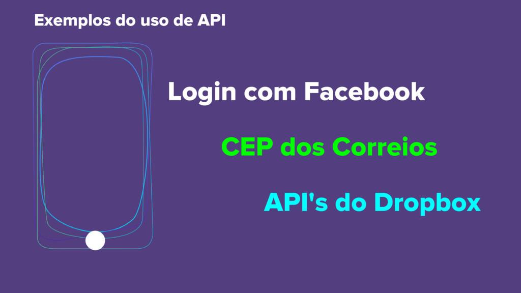 Login com Facebook API's do Dropbox Exemplos do...