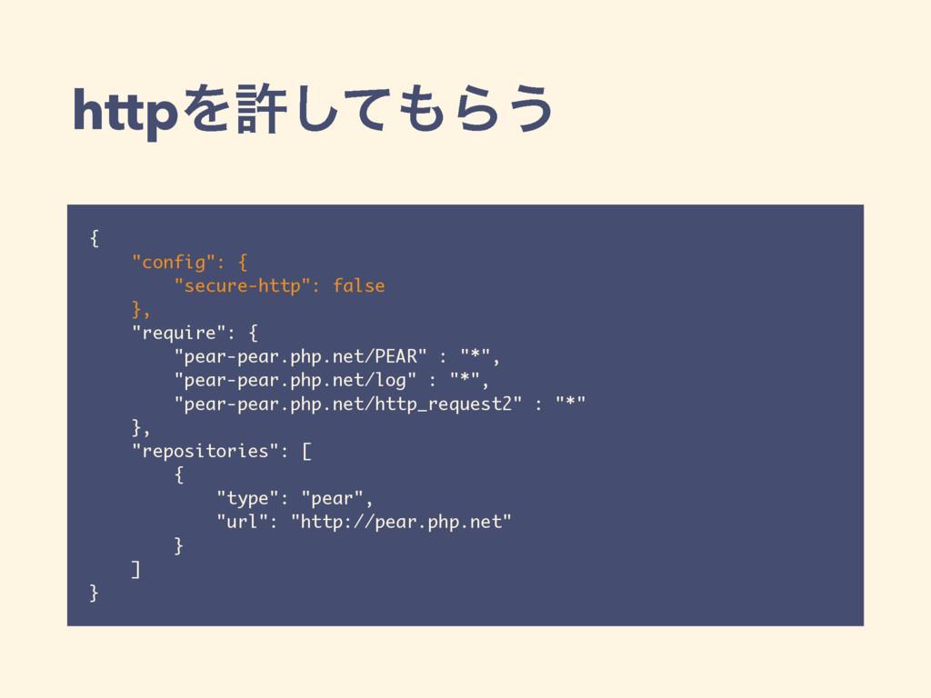 """httpΛڐͯ͠Β͏ { """"config"""": { """"secure-http"""": false ..."""