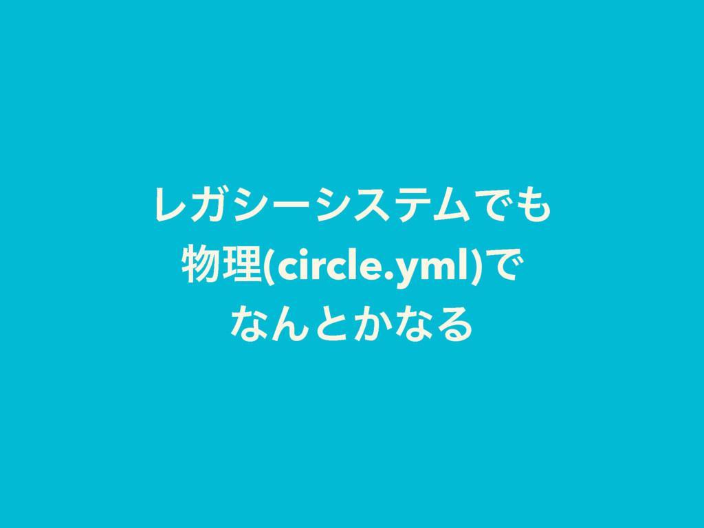 ϨΨγʔγεςϜͰ ཧ(circle.yml)Ͱ ͳΜͱ͔ͳΔ