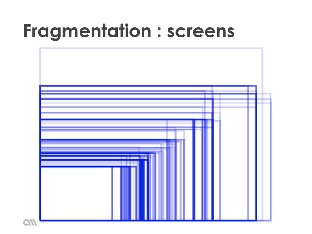 Fragmentation : screens