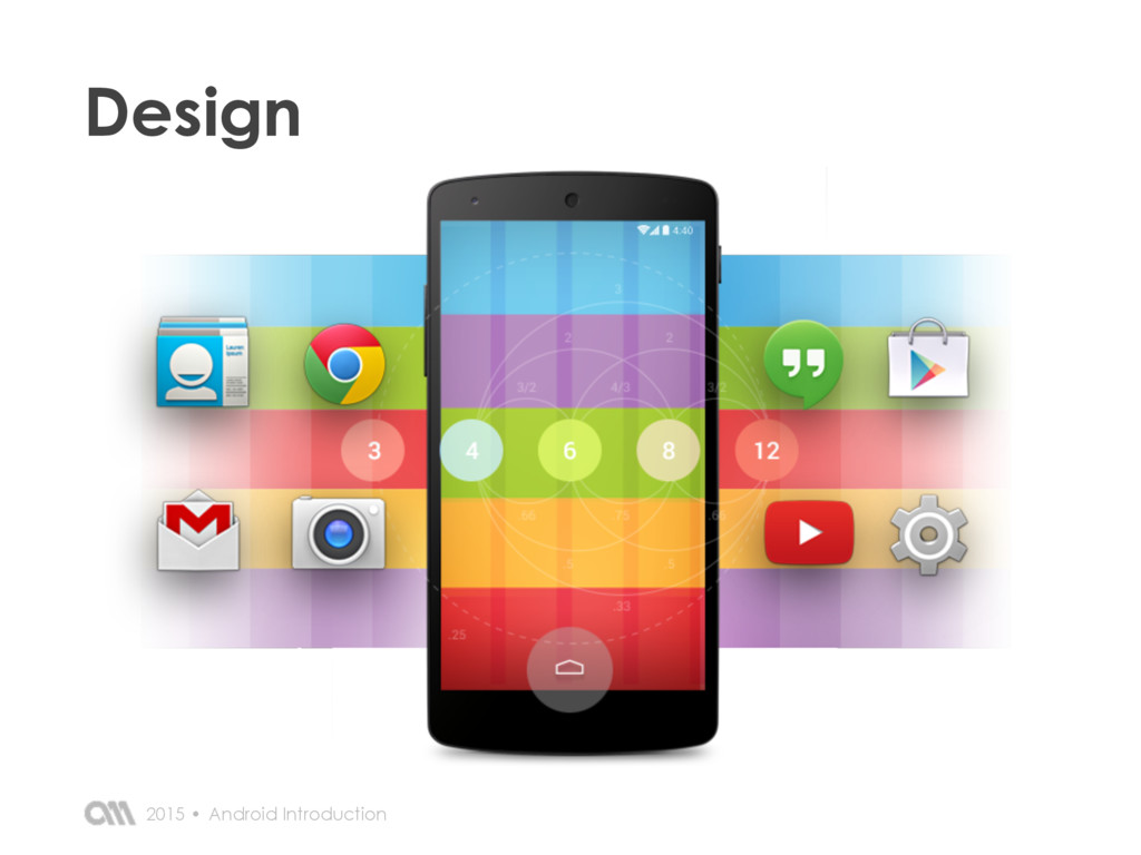 Android Introduction 2015 • Design