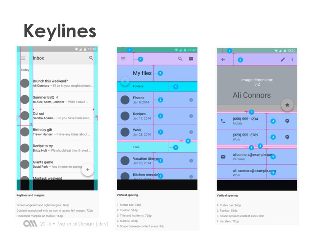 2015 • Keylines Material Design (dev)