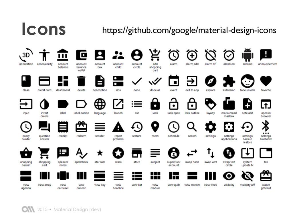 2015 • Icons Material Design (dev) https://gith...