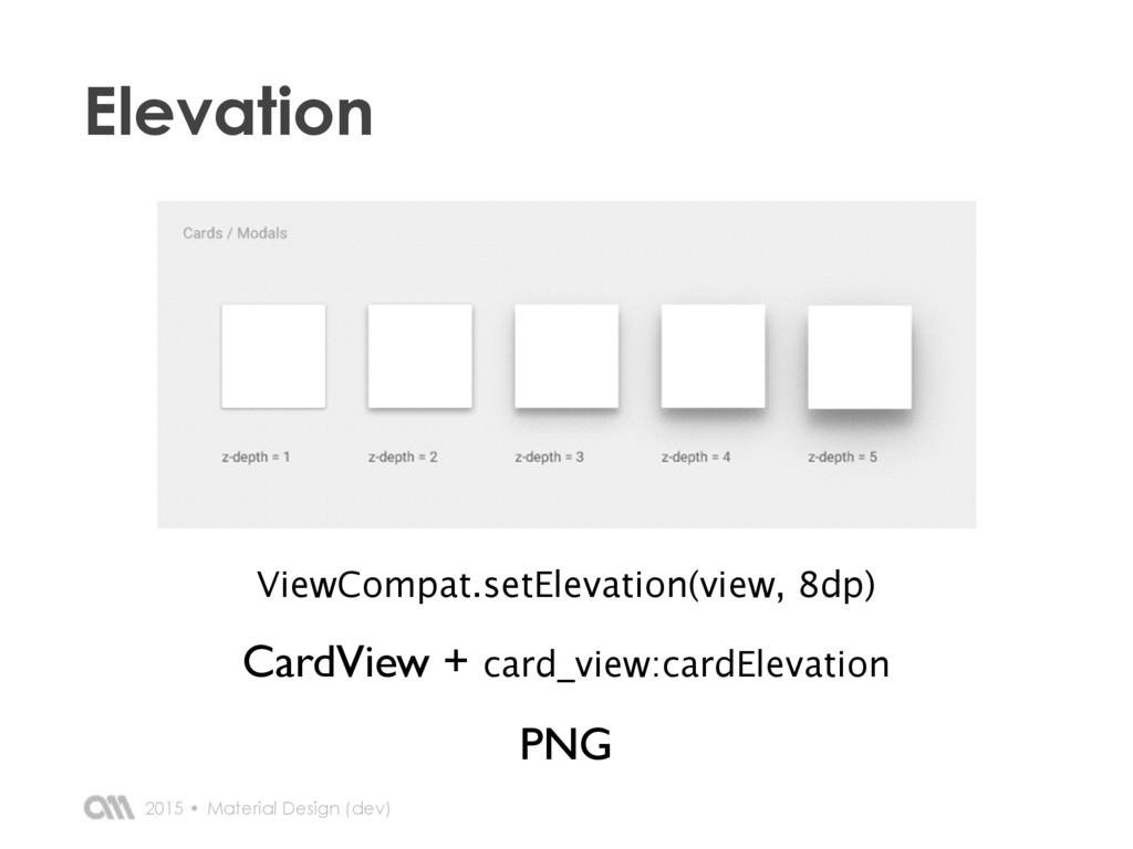 2015 • Elevation Material Design (dev) ViewComp...