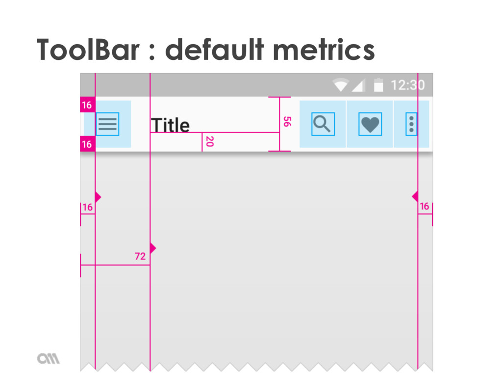 ToolBar : default metrics Material Design (dev)