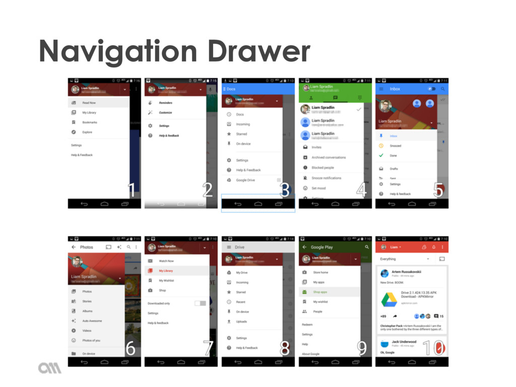 Android Introduction 2015 • Navigation Drawer