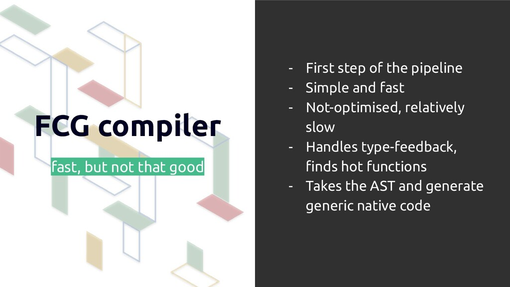FCG compiler fast, but not that good - First st...
