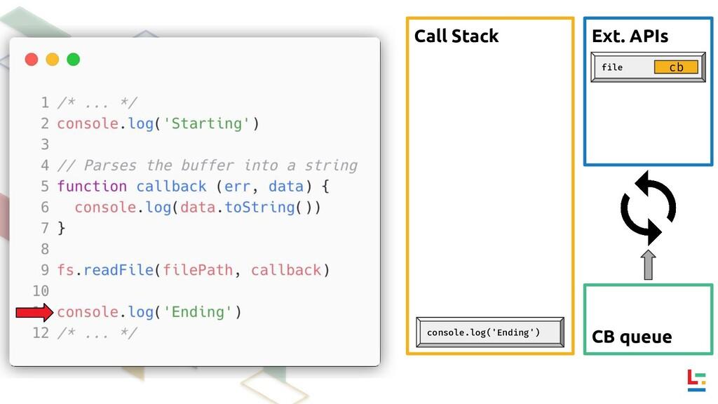 Call Stack Ext. APIs CB queue file cb console.l...