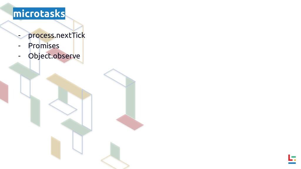 microtasks - process.nextTick - Promises - Obje...