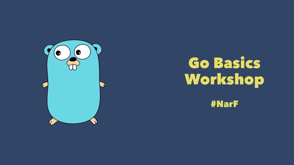 Go Basics Workshop #NarF