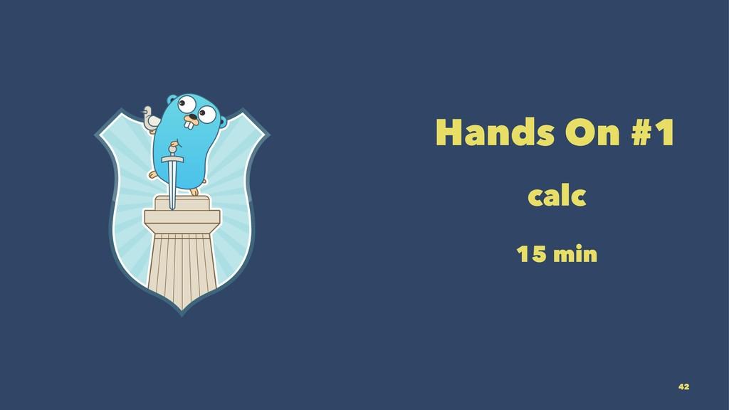 Hands On #1 calc 15 min 42