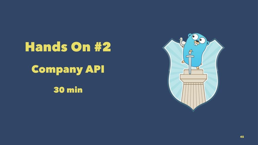 Hands On #2 Company API 30 min 45