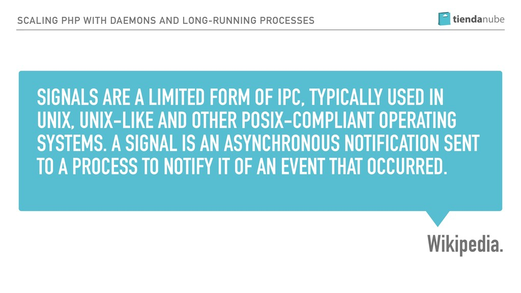 SIGNALS ARE A LIMITED FORM OF IPC, TYPICALLY US...