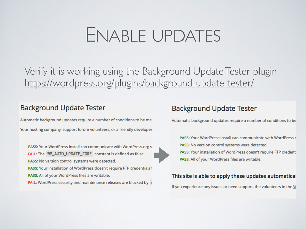ENABLE UPDATES Verify it is working using the B...