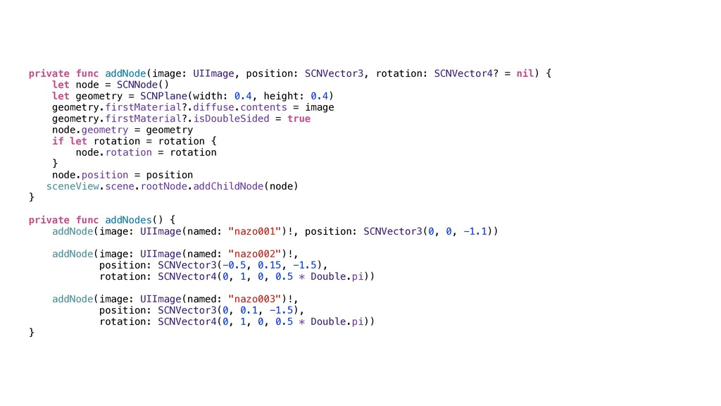 private func addNode(image: UIImage, position: ...