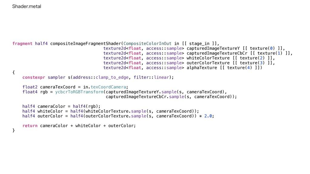 fragment half4 compositeImageFragmentShader(Com...