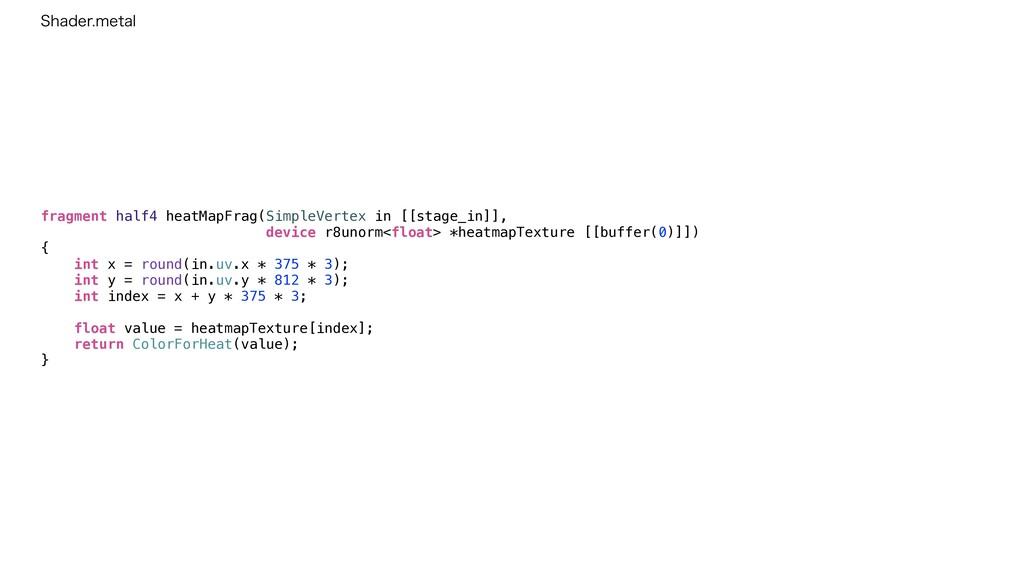fragment half4 heatMapFrag(SimpleVertex in [[st...
