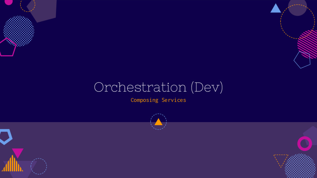 Orchestration (Dev) Composing Services