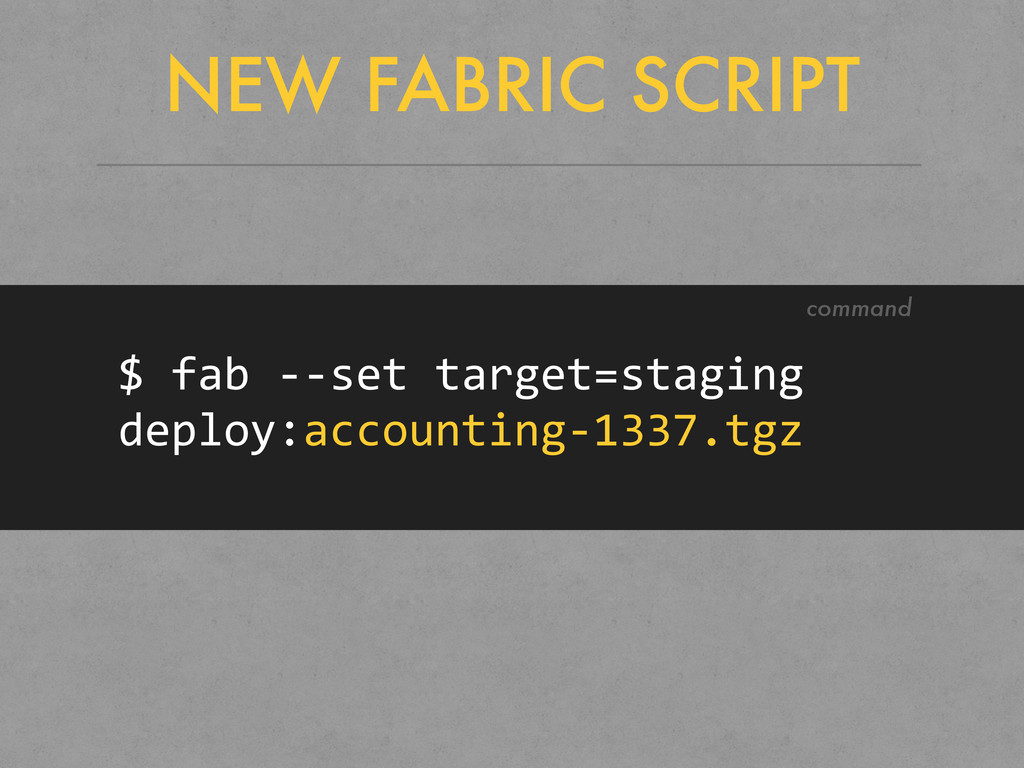 NEW FABRIC SCRIPT $	