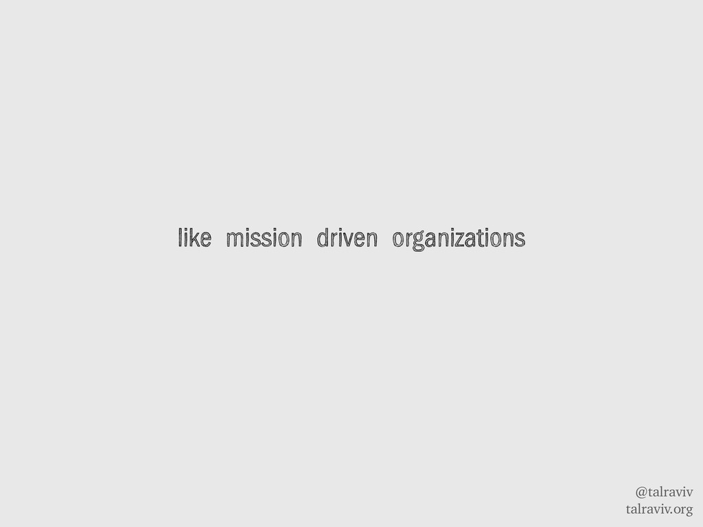 @talraviv talraviv.org like mission driven orga...