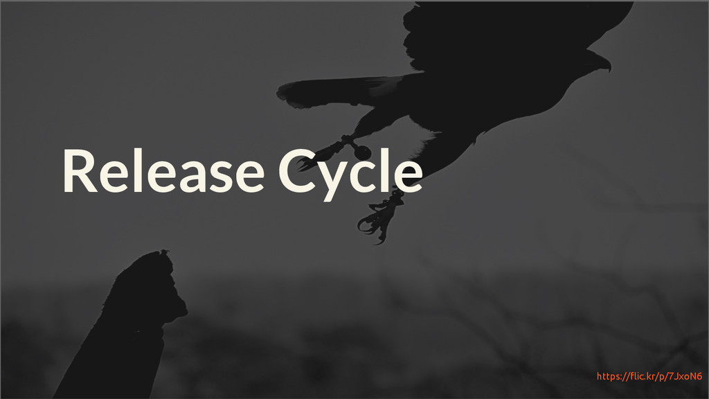 Release Cycle https://flic.kr/p/7JxoN6