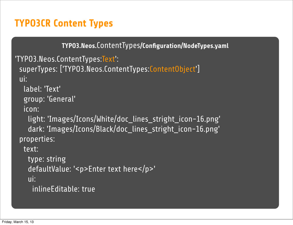 TYPO3CR Content Types TYPO3.Neos.ContentTypes/C...