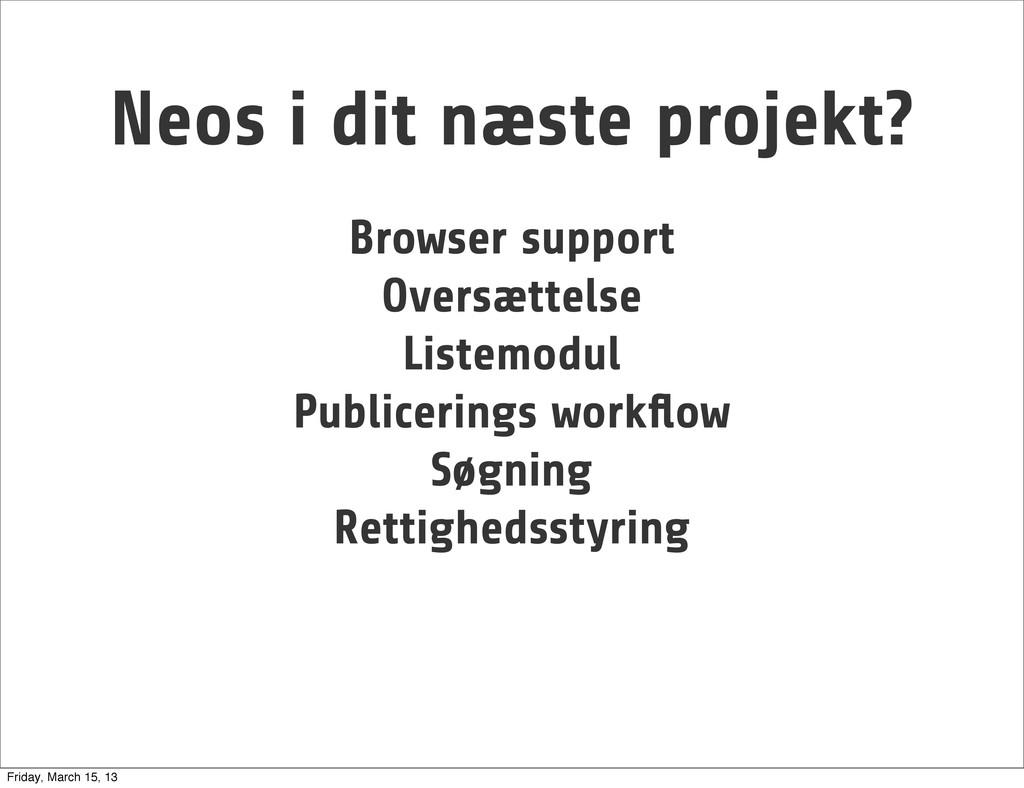 Browser support Oversættelse Listemodul Publice...