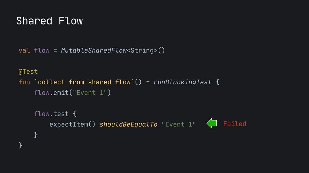 Shared Flow val flow = MutableSharedFlow<String...
