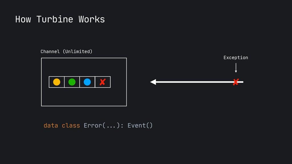 Exception data class Error( ... ): Event() How ...