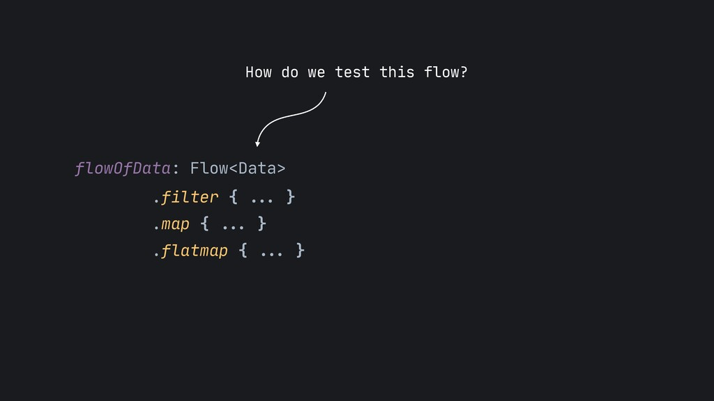 flowOfData: Flow<Data>  .filter { ... }  .map {...