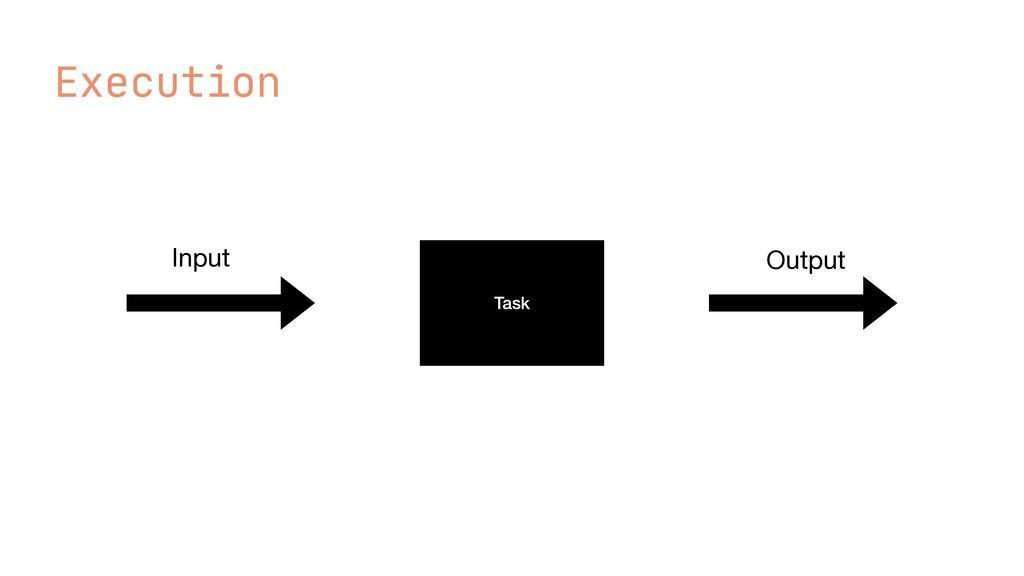 Execution Task Input Output