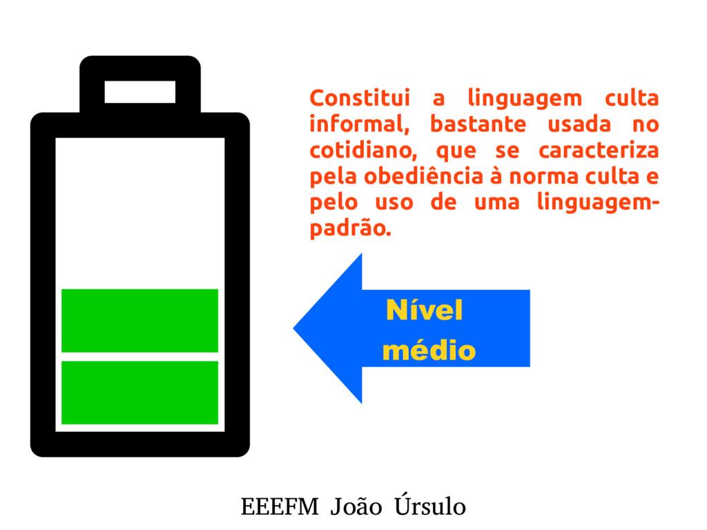 EEEFM João Úrsulo Nível médio Constitui a lingu...