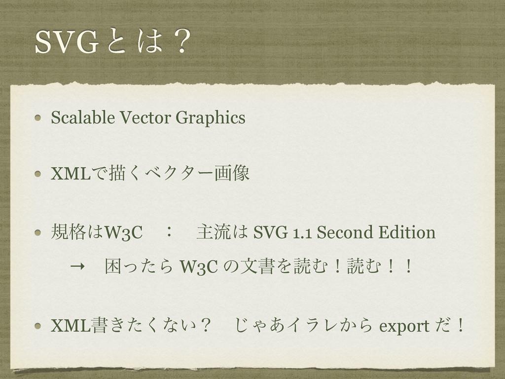 SVGͱʁ Scalable Vector Graphics XMLͰඳ͘ϕΫλʔը૾ ن֨...