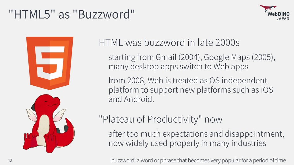 """HTML5"" as ""Buzzword"" HTML was buzzword in late..."
