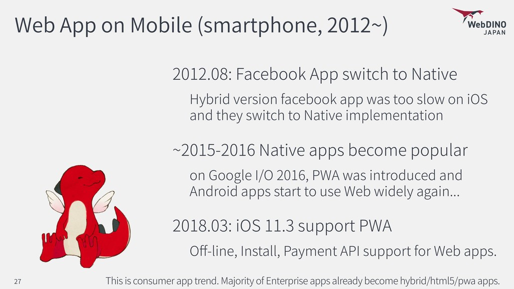 Web App on Mobile (smartphone, 2012~) 2012.08: ...
