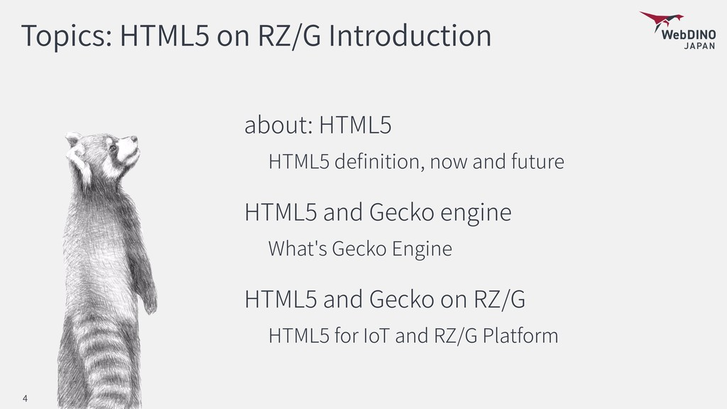 Topics: HTML5 on RZ/G Introduction about: HTML5...