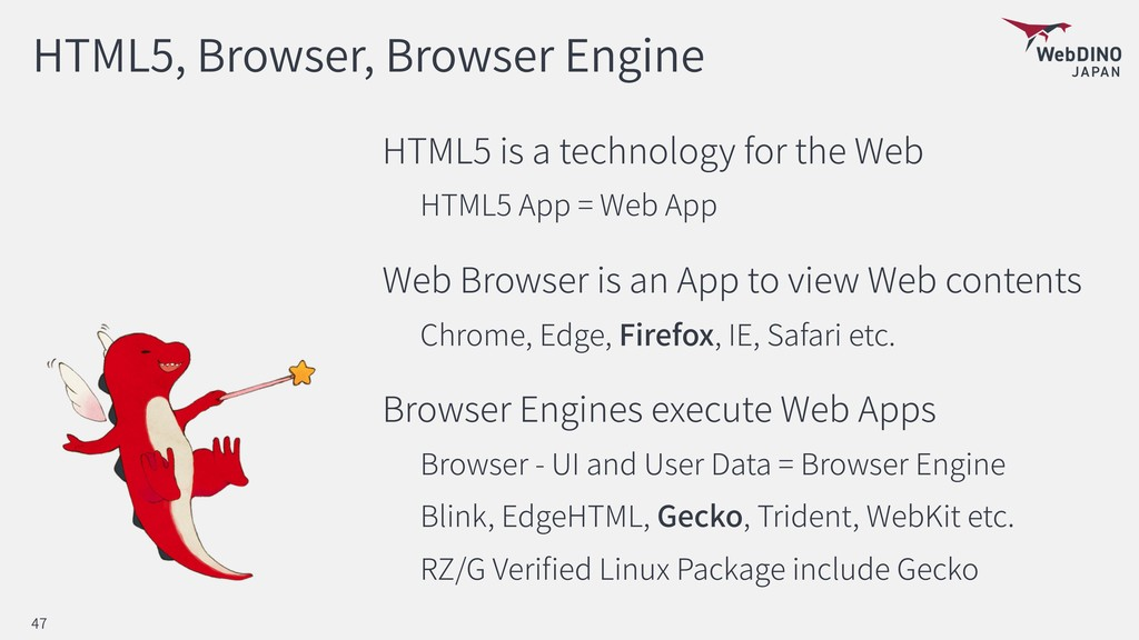 HTML5, Browser, Browser Engine HTML5 is a techn...