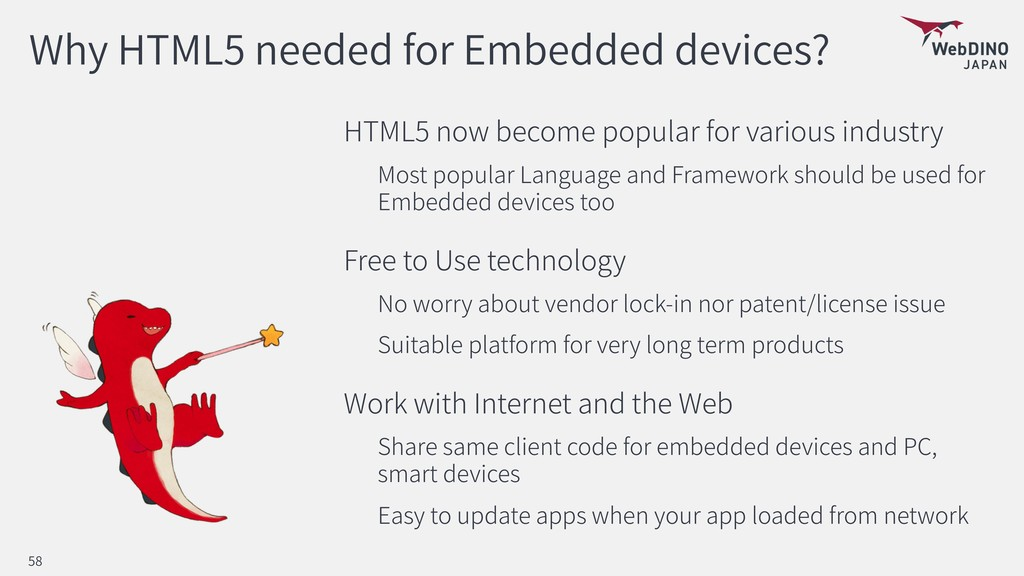 Why HTML5 needed for Embedded devices? HTML5 no...
