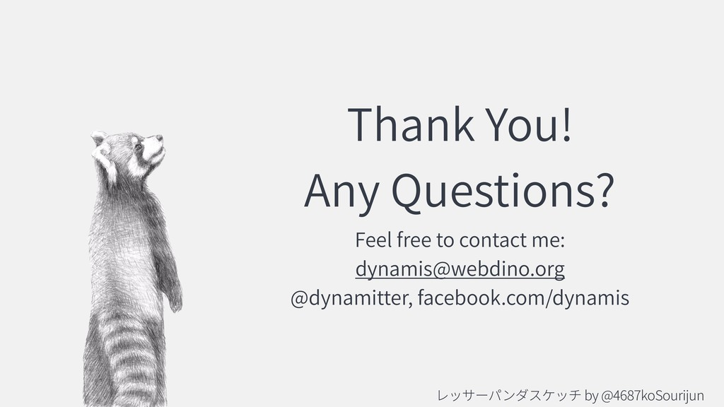 Thank You! Any Questions? Feel free to contact ...