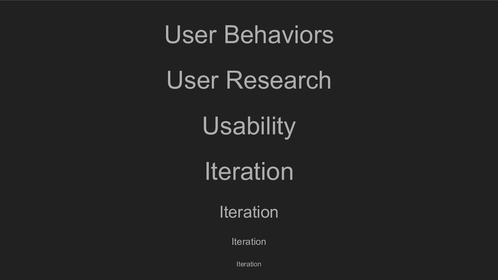 User Behaviors User Research Usability Iteratio...