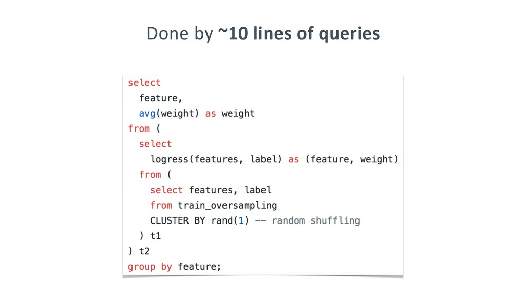 Done by ~10 lines of queries
