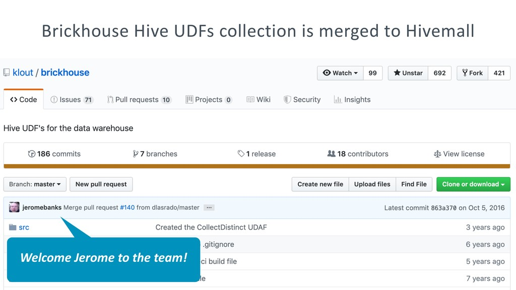 Brickhouse Hive UDFs collection is merged to Hi...