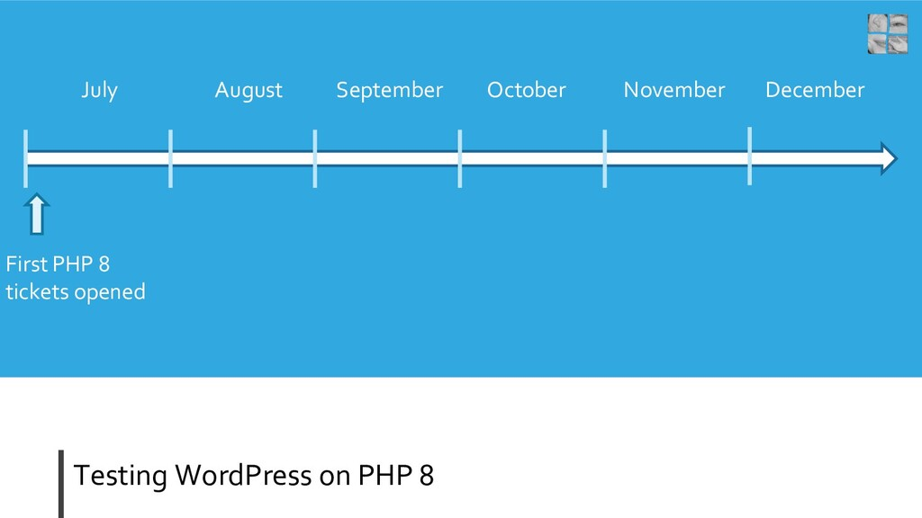 Testing WordPress on PHP 8 July August Septembe...