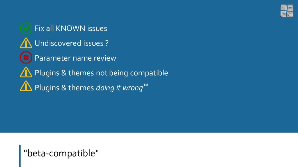 """beta-compatible"" Fix all KNOWN issues Undiscov..."