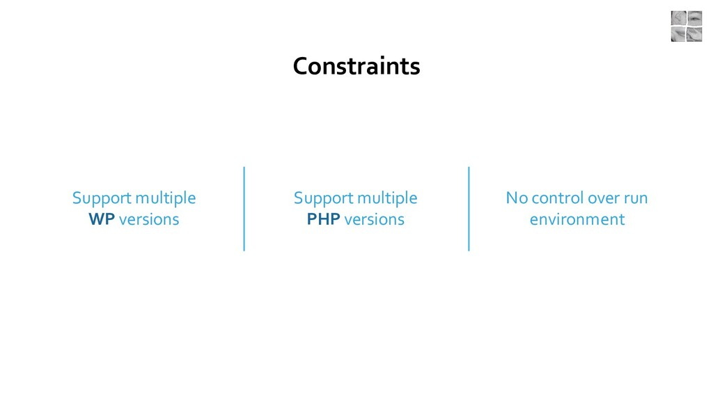 Constraints Support multiple WP versions Suppor...